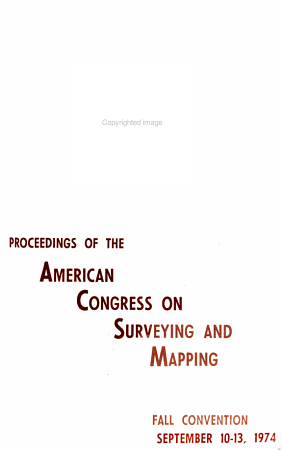 Proceedings of the American Congress on Surveying and Mapping  Fall Convention PDF