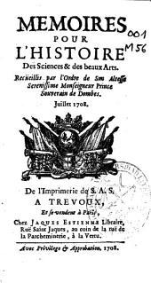 Memoires pour L'Histoire des Sciences et des Beaux Arts
