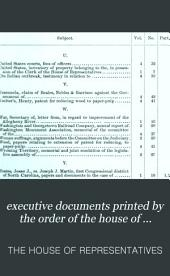 executive documents printed by the order of the house of representatives