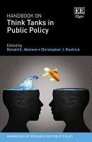 Handbook on Think Tanks in Public Policy PDF