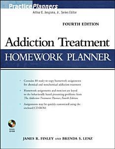 Addiction Treatment Homework Planner Book