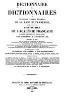 Dictionnaire des dictionnaires  ou  vocabulaire universel et complet de la langue fran  aise  G Z PDF