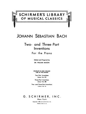 Two  and three part inventions for the piano PDF