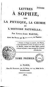Lettres à Sophie sur la physique, la chimie et l'histoire naturelle