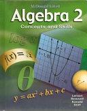 Algebra 2  Grades 9 12 PDF