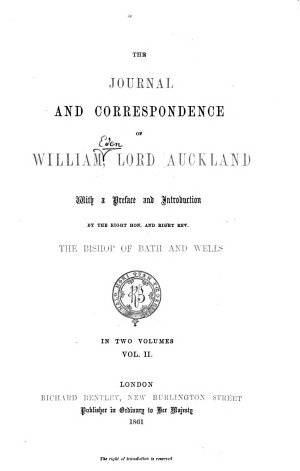 The journal and correspondence of William Eden