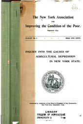 Inquiry Into the Causes of Agricultural Depression in New York State