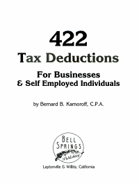 422 Tax Deductions for Businesses and Self Employed Individuals