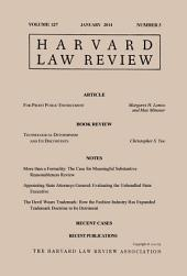 Harvard Law Review: Volume 127, Number 3 - January 2014