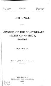 Journal of the Congress of the Confederate States of America, 1861-1865: Volume 6