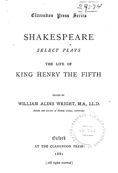The Life of King Henry the Fifth PDF