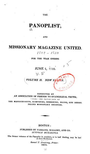 The Panoplist  and Missionary Magazine United