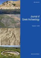 Journal of Greek Archaeology Volume 3 2018 PDF