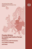 Pension Reform in Central and Eastern Europe PDF