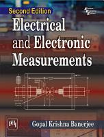 ELECTRICAL AND ELECTRONIC MEASUREMENTS PDF