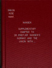 Supplementary chapter to Dr. Fridtjof Nansen's Norway and the union with Sweden