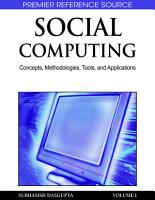 Social Computing  Concepts  Methodologies  Tools  and Applications PDF