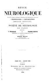 Revue neurologique: Volume16