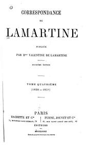 Correspondance de Lamartine: Volume4