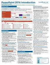 Microsoft PowerPoint 2016 Introduction Quick Reference Training Tutorial Guide (Cheat Sheet of Instructions, Tips & Shortcuts)