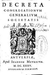 Decreta Congregationum Generalium Societatis Iesu
