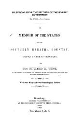 A Memoir of the States of the Southern Maratha Country