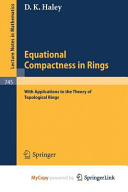 Equational Compactness in Rings