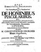 Exercitatio philol. peri tōn perikatharmatōn ... seu de hominibus piacularibus