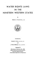 Water Rights Laws in the Nineteen Western States PDF