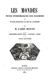 Le Cosmos; revue des sciences et de leurs applications: Volume7