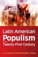 Latin American Populism in the Twenty First Century PDF