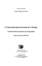 L'Université dans le devenir de l'Afrique: Un demi-siècle de présence au Congo-Zaïre