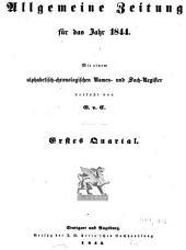 Allgemeine Zeitung München: 1844, 1 - 3