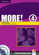 More! Level 4 Teacher's Resource Pack with Testbuilder CD-ROM/Audio CD