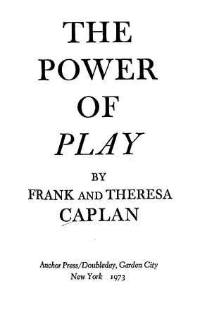 The Power of Play PDF