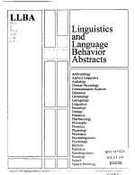 Linguistics and Language Behavior Abstracts PDF