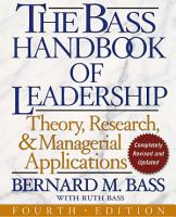 The Bass Handbook of Leadership PDF