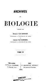 Arch biol (Liege): Volume 4