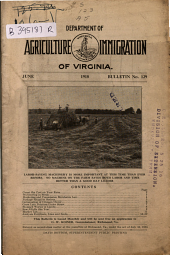 Bulletin - Virginia Department of Agriculture and Immigration: Issue 129