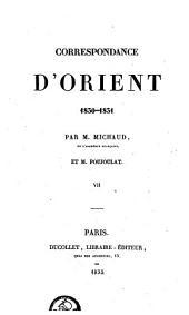 Correspondance d'Orient 1830-31: Volume7