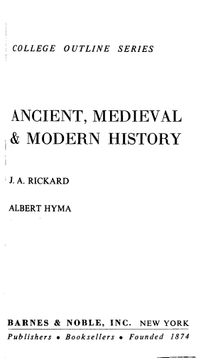 Ancient medieval   modern history