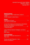 Journal of Law and Cyber Warfare Volume 6, Issue 1