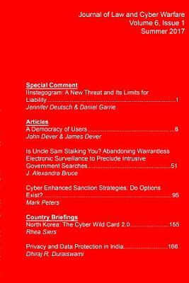 Journal of Law and Cyber Warfare Volume 6  Issue 1 PDF