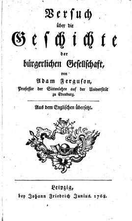 Versuch   ber die Geschichte der b  rgerlichen Gesellschaft PDF