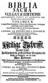 BIBLIA SACRA VULGATAE.: Volumen II.