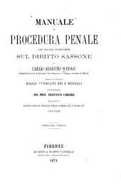 Manuale di procedura penale con speciali osservazioni