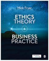 Ethics Theory and Business Practice PDF