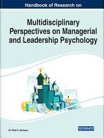 Multidisciplinary Perspectives on Managerial and Leadership Psychology PDF