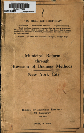 Municipal Reform Through Revision of Business Methods, New York City