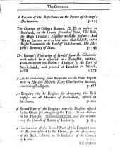 A collection of eighteen papers, relating to the affairs of Church & State, during the reign of king James the second. Repr: Volume 6